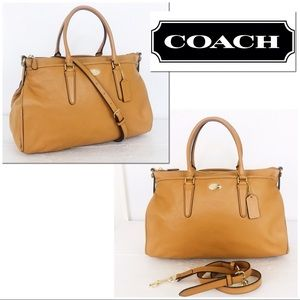 Coach Morgan Pebble Leather Convertible Satchel